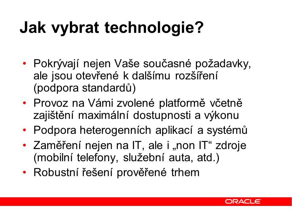 Jak vybrat technologie