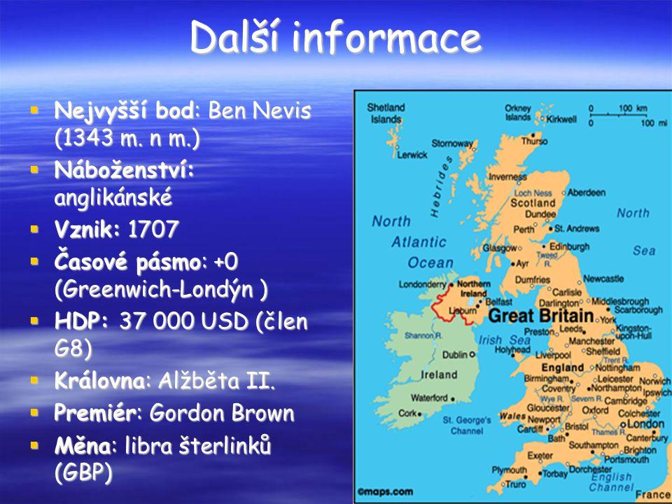 Další informace Nejvyšší bod: Ben Nevis (1343 m. n m.)