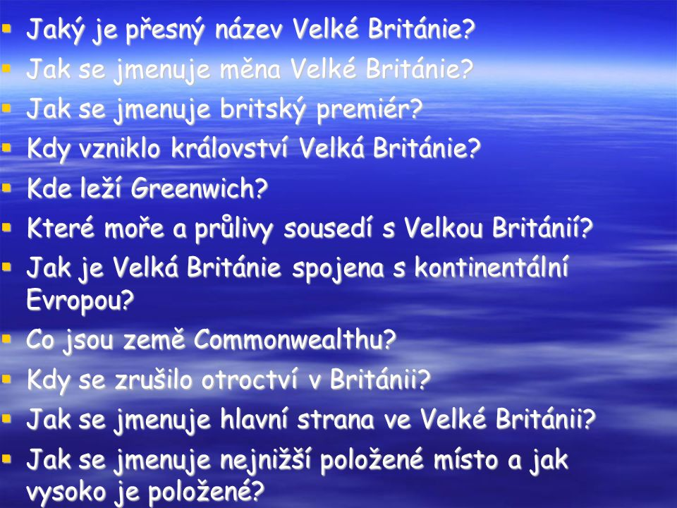 Jaký je přesný název Velké Británie