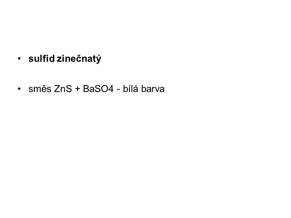 sulfid zinečnatý směs ZnS + BaSO4 - bílá barva