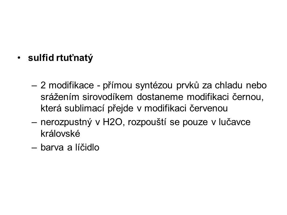 sulfid rtuťnatý