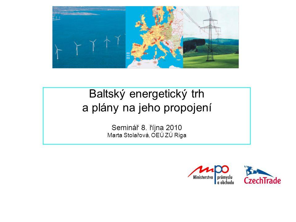 Baltský energetický trh a plány na jeho propojení