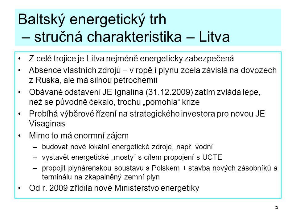 Baltský energetický trh – stručná charakteristika – Litva