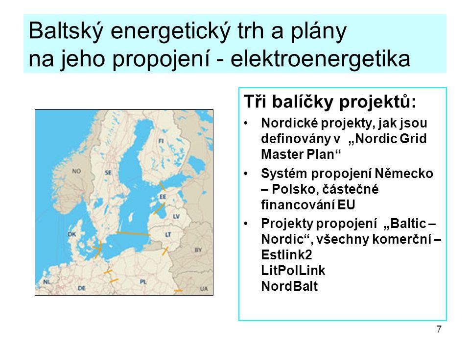 Baltský energetický trh a plány na jeho propojení - elektroenergetika