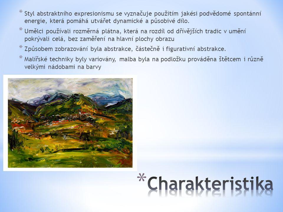 Styl abstraktního expresionismu se vyznačuje použitím jakési podvědomé spontánní energie, která pomáhá utvářet dynamické a působivé dílo.