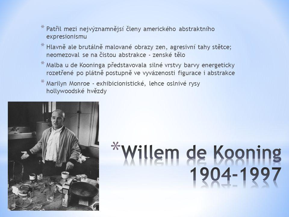 Patřil mezi nejvýznamnějsí členy amerického abstraktního expresionismu