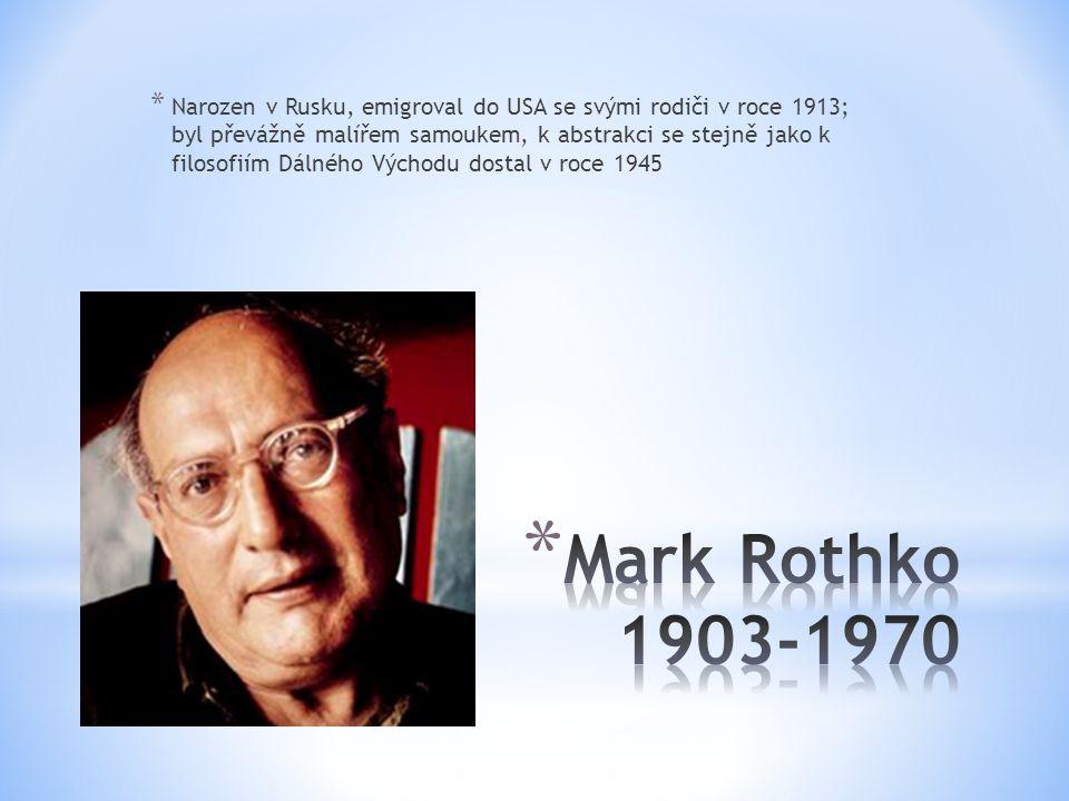 Narozen v Rusku, emigroval do USA se svými rodiči v roce 1913; byl převážně malířem samoukem, k abstrakci se stejně jako k filosofiím Dálného Východu dostal v roce 1945