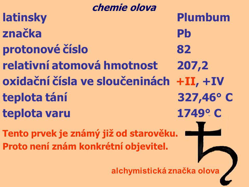 relativní atomová hmotnost 207,2