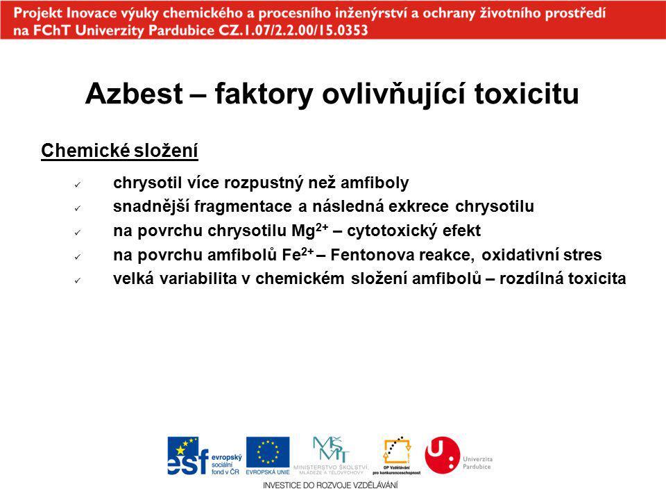 Azbest – faktory ovlivňující toxicitu