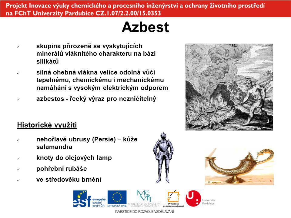 Azbest Historické využití