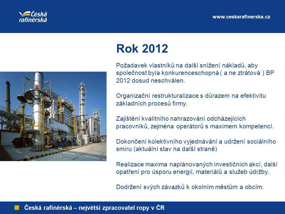 www.ceskarafinerska.cz Rok 2012.