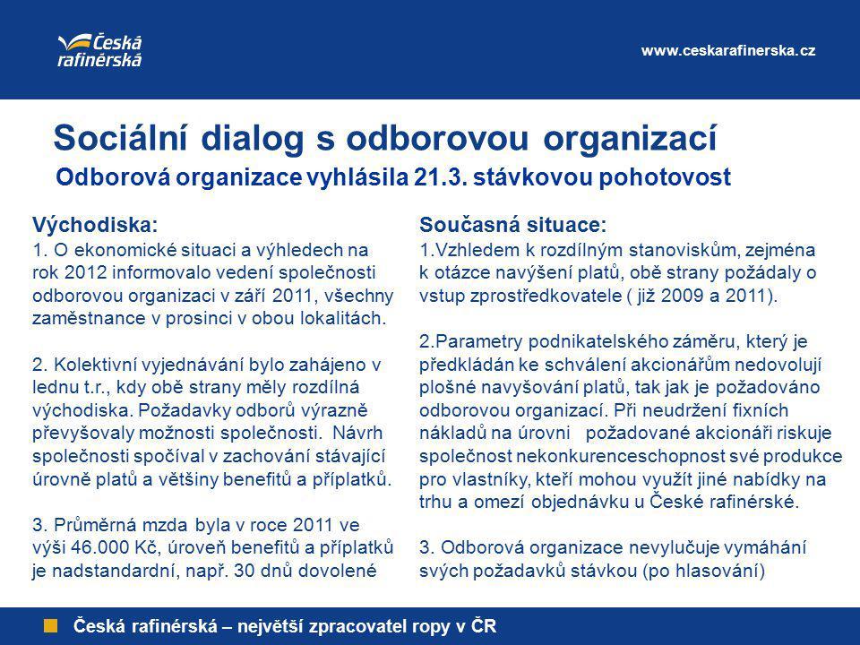 Sociální dialog s odborovou organizací