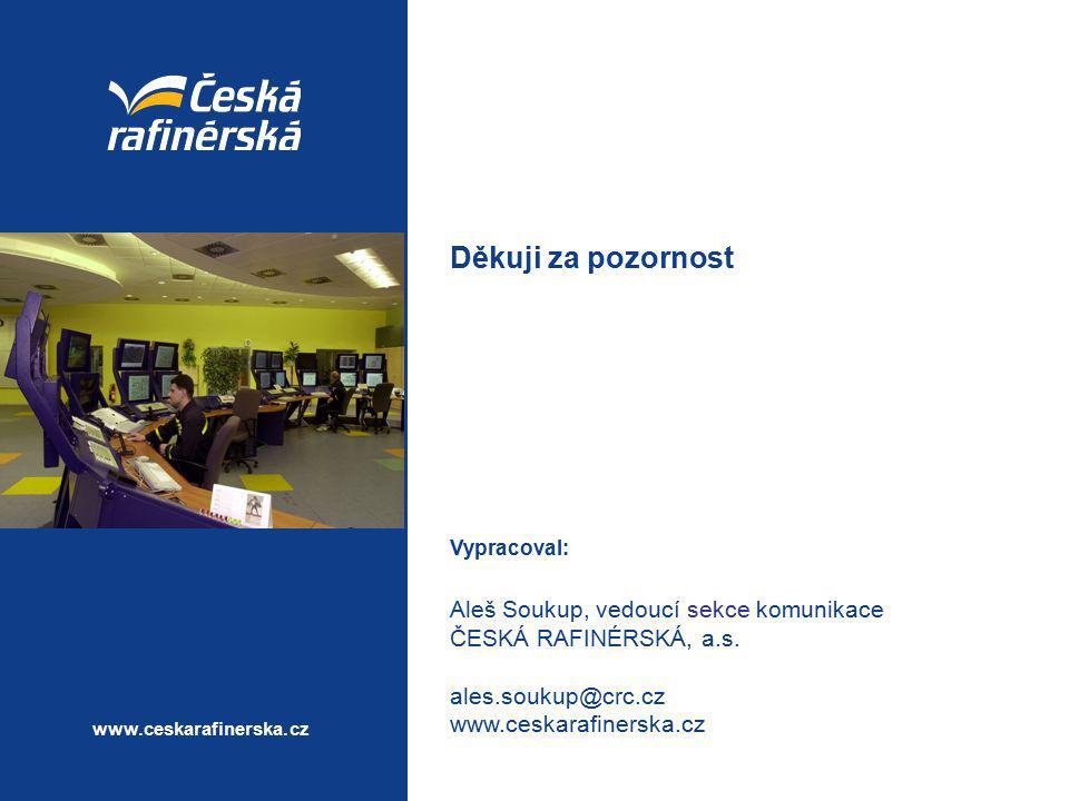 Děkuji za pozornost Aleš Soukup, vedoucí sekce komunikace