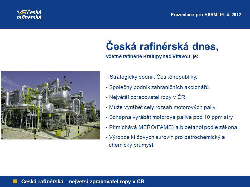 Česká rafinérská dnes, - Strategický podnik České republiky.