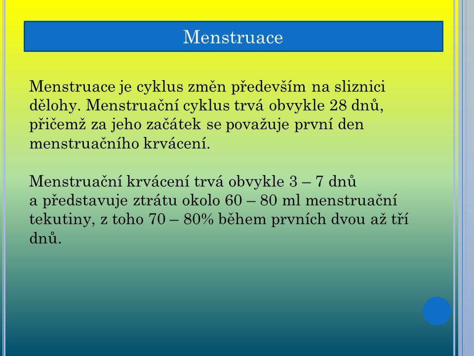Menstruace