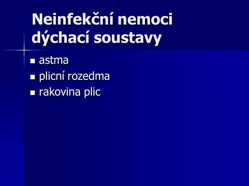 Neinfekční nemoci dýchací soustavy