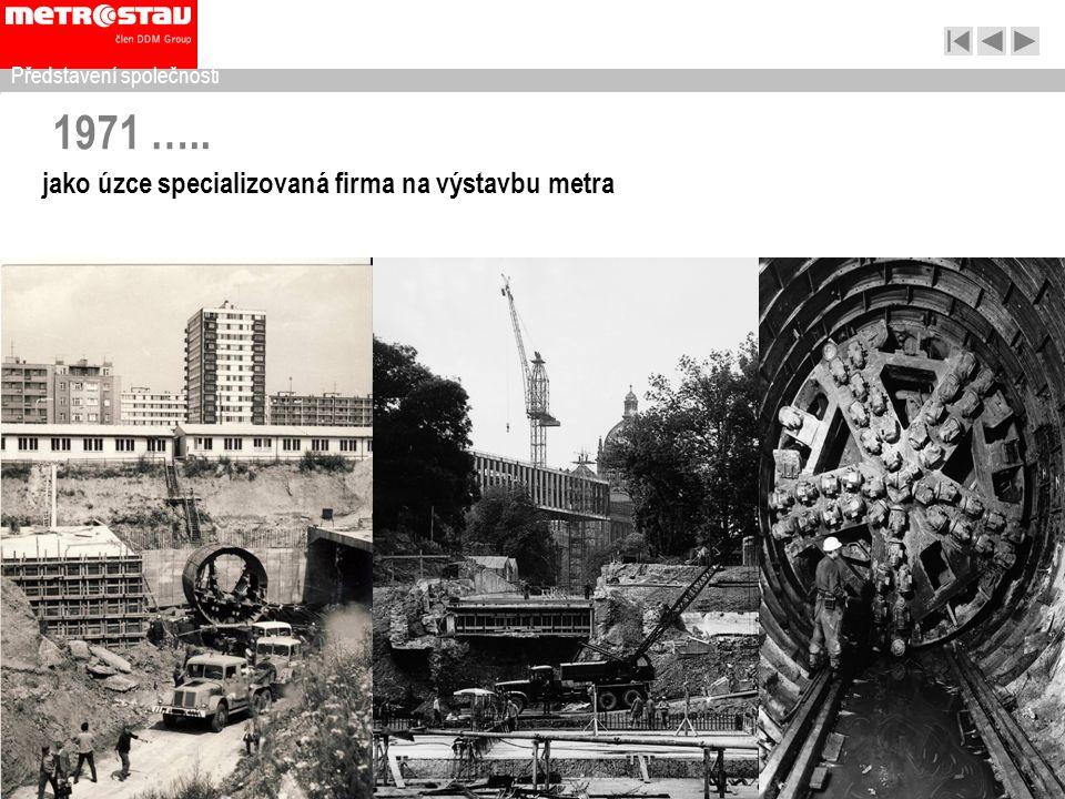 1971 ….. jako úzce specializovaná firma na výstavbu metra