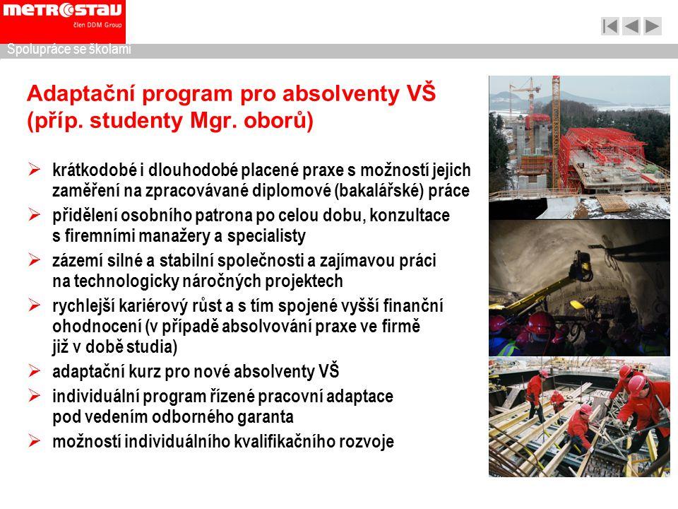 Adaptační program pro absolventy VŠ (příp. studenty Mgr. oborů)