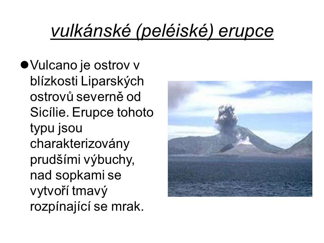 vulkánské (peléiské) erupce