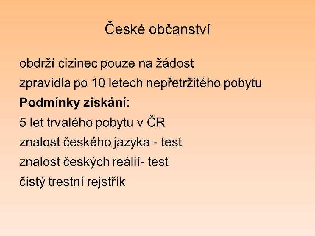 České občanství