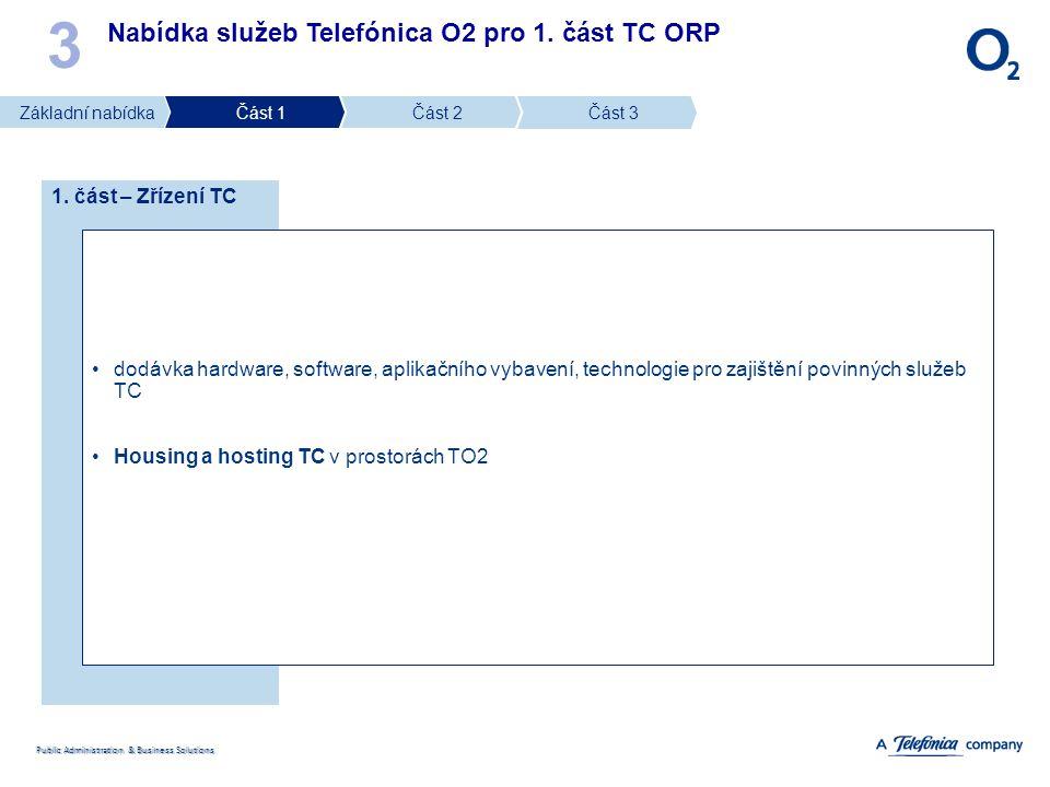 3 Nabídka služeb Telefónica O2 pro 1. část TC ORP 1. část – Zřízení TC