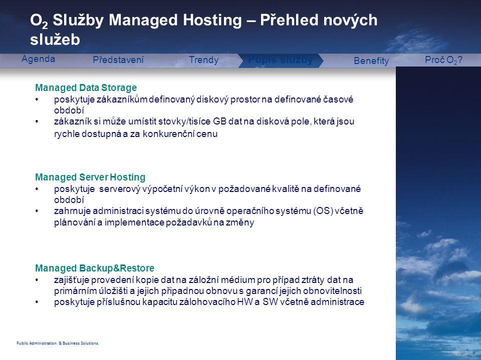 O2 Služby Managed Hosting – Přehled nových služeb