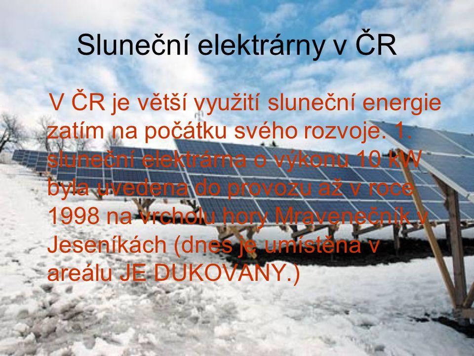 Sluneční elektrárny v ČR