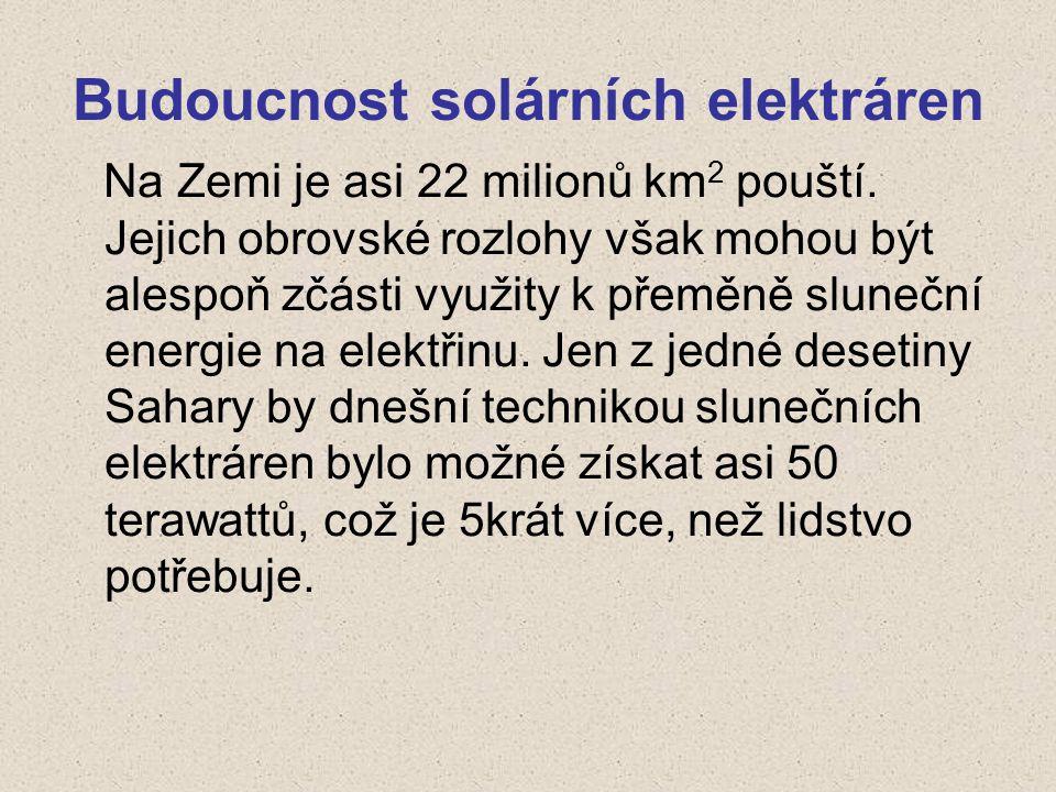 Budoucnost solárních elektráren
