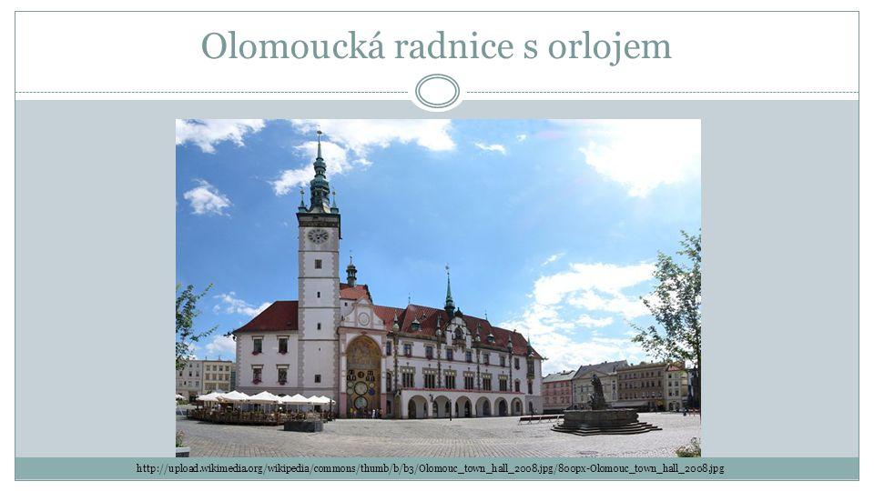 Olomoucká radnice s orlojem