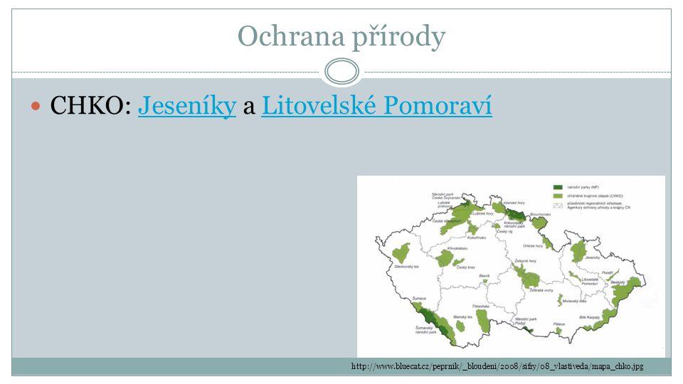 Ochrana přírody CHKO: Jeseníky a Litovelské Pomoraví