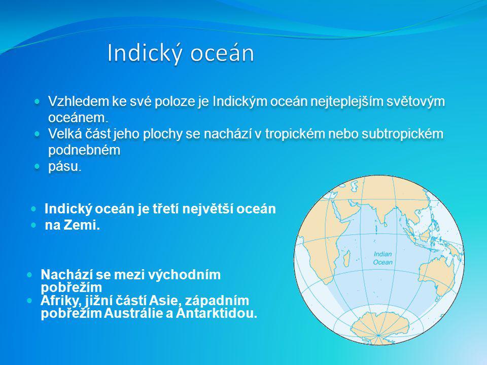 Indický oceán Vzhledem ke své poloze je Indickým oceán nejteplejším světovým oceánem.