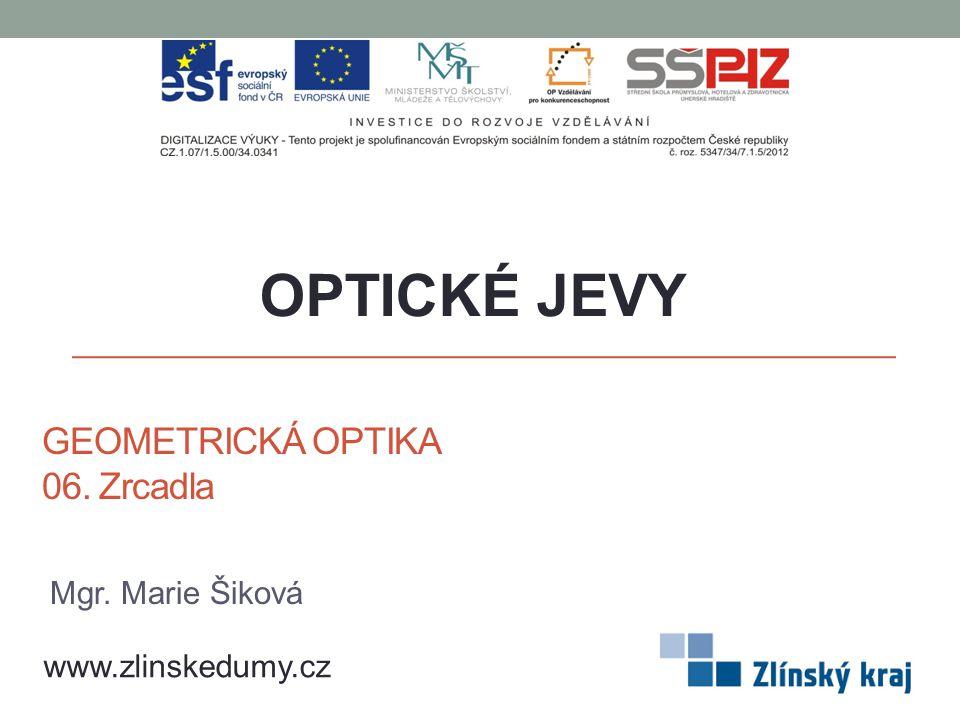 GEOMETRICKÁ OPTIKA 06. Zrcadla