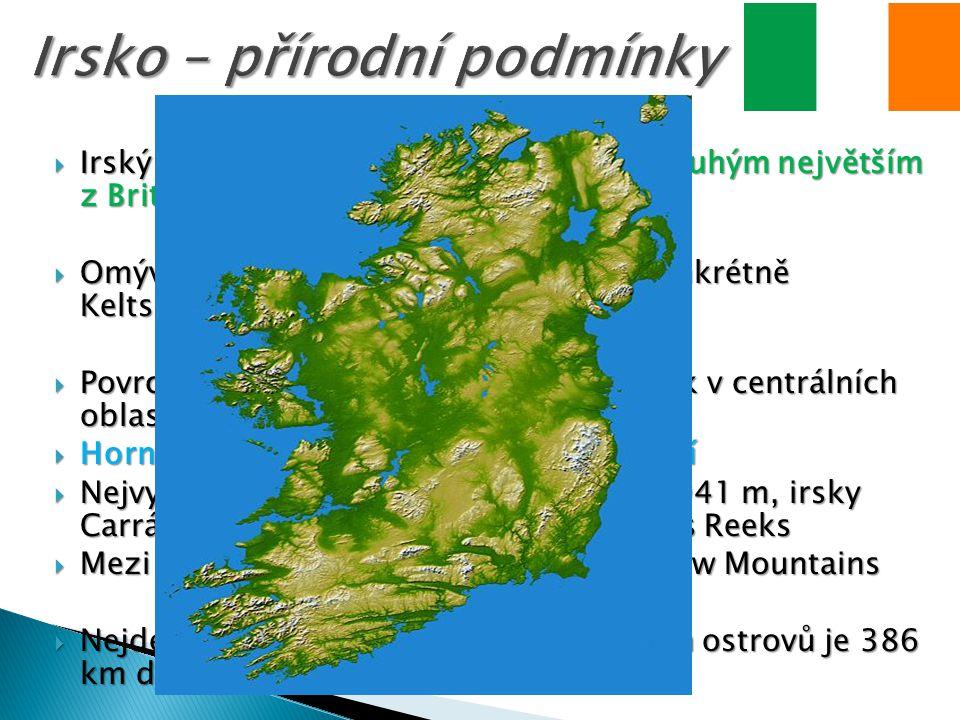 Irsko – přírodní podmínky