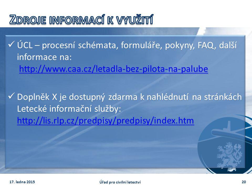 Zdroje informací k využití