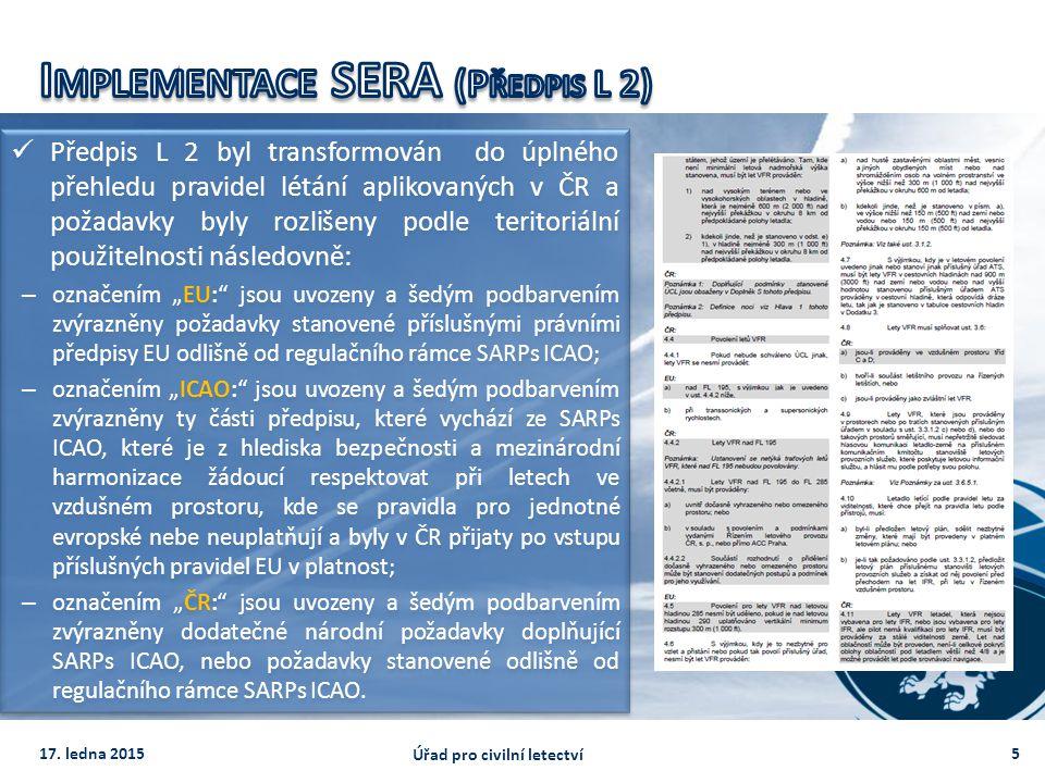 Implementace SERA (Předpis L 2)