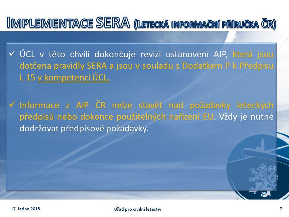 Implementace SERA (Letecká informační příručka ČR)