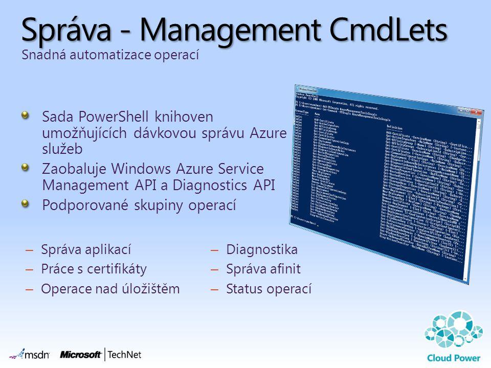 Správa - Management CmdLets