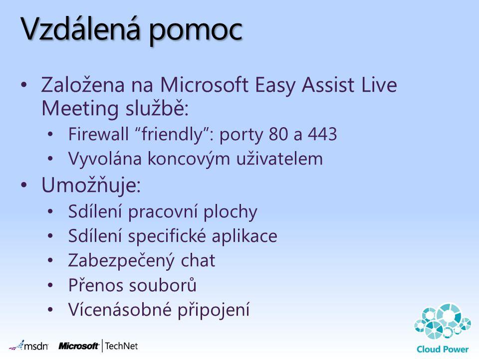 Vzdálená pomoc Založena na Microsoft Easy Assist Live Meeting službě: