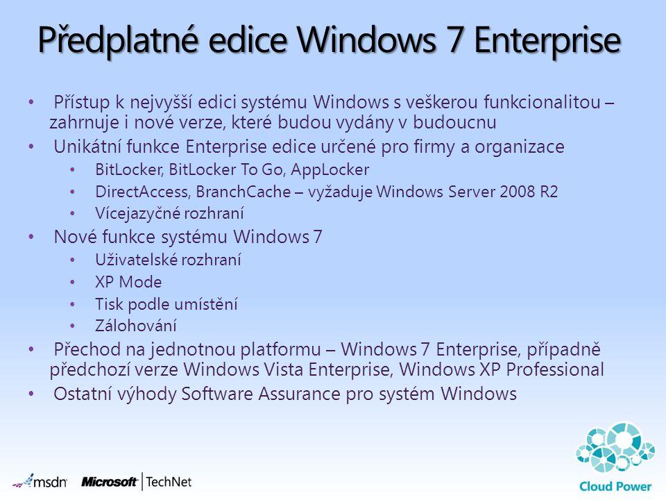 Předplatné edice Windows 7 Enterprise