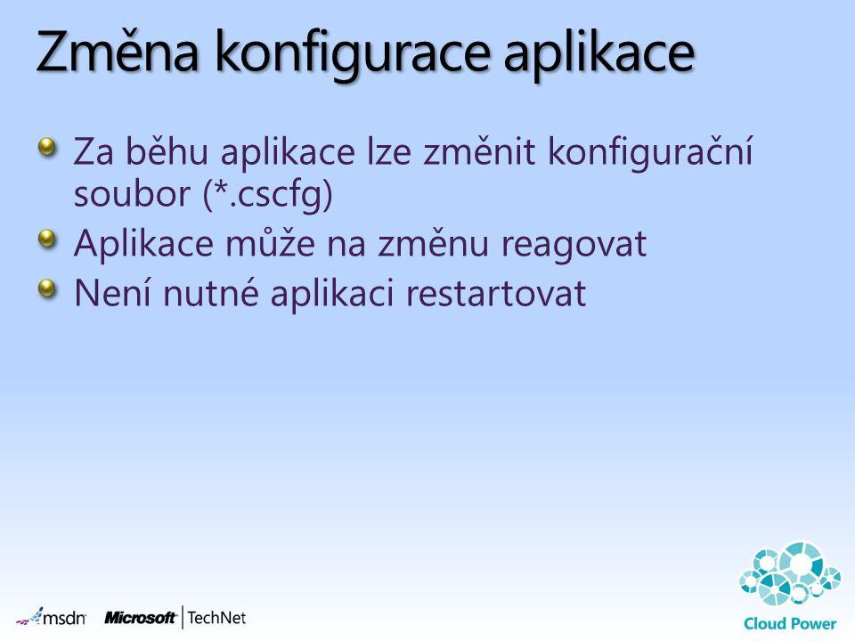 Změna konfigurace aplikace