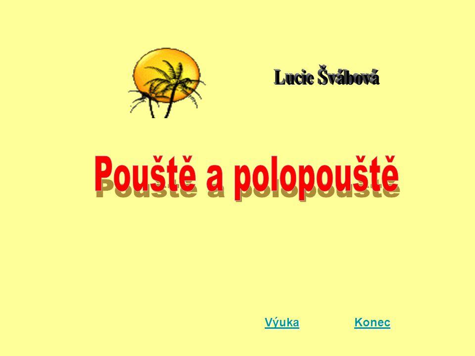 Lucie Švábová Pouště a polopouště Výuka Konec