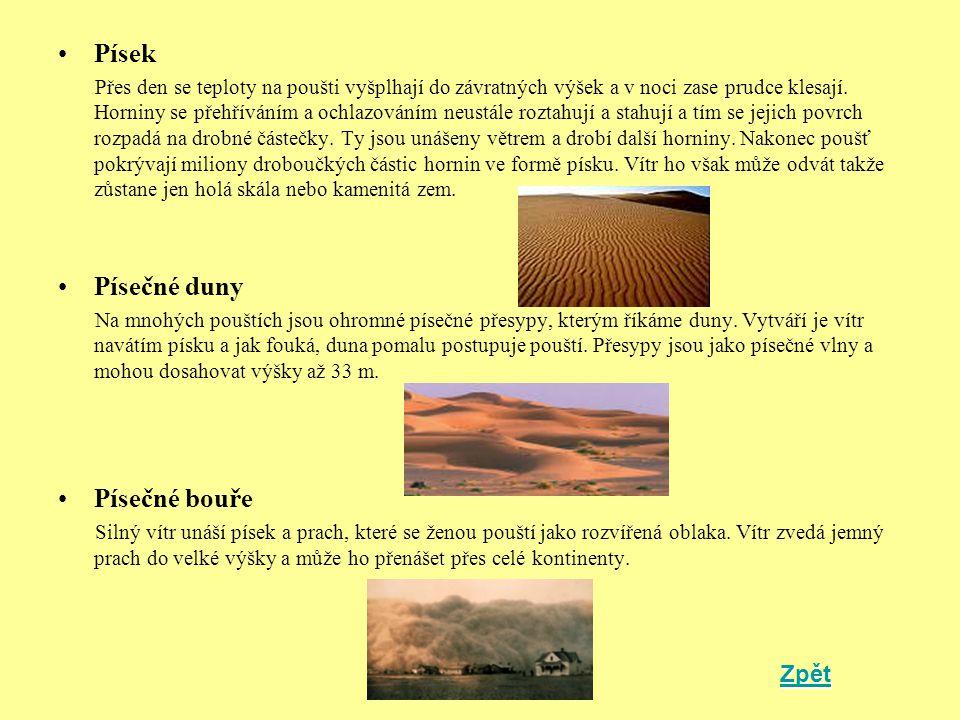 Písek Písečné duny Písečné bouře Zpět