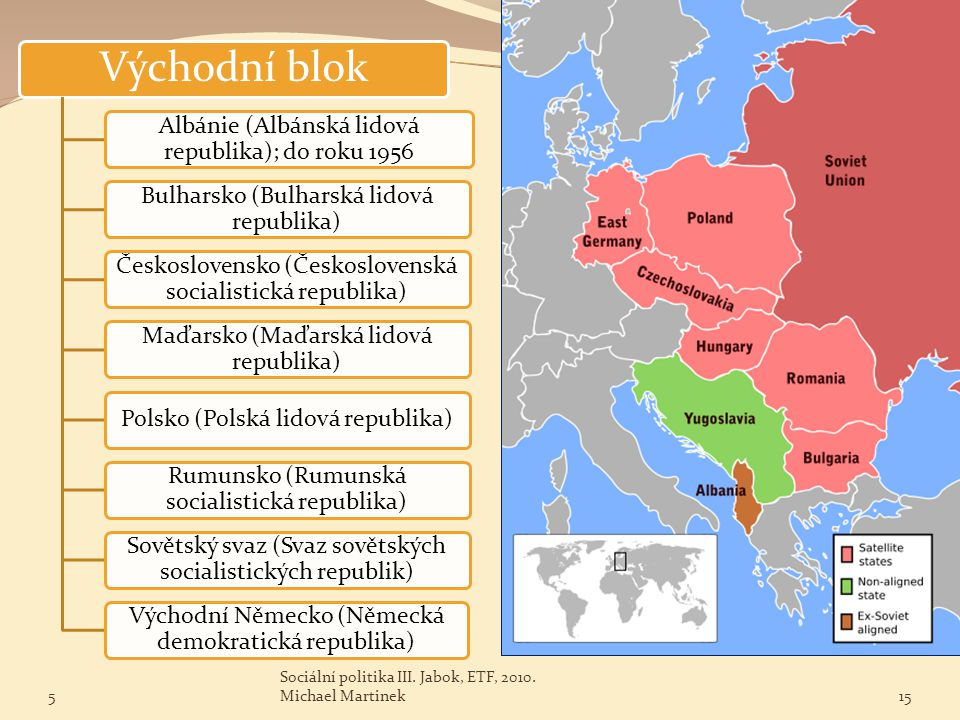Východní blok Albánie (Albánská lidová republika); do roku 1956