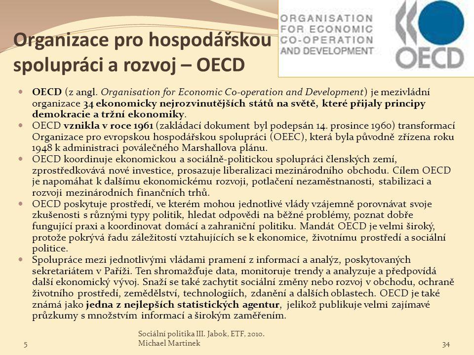 Organizace pro hospodářskou spolupráci a rozvoj – OECD
