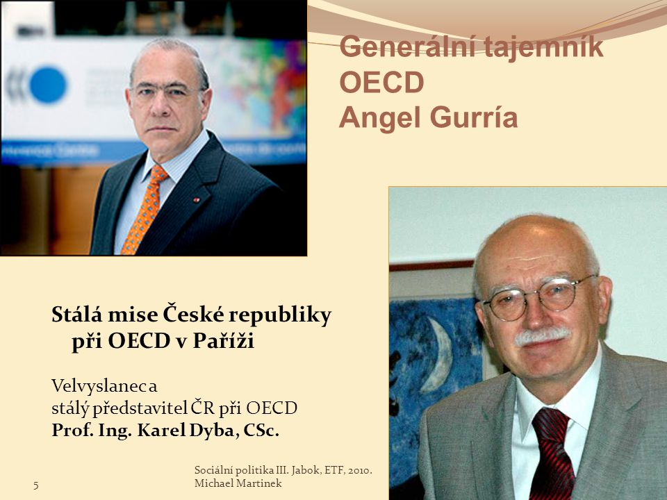 Generální tajemník OECD Angel Gurría