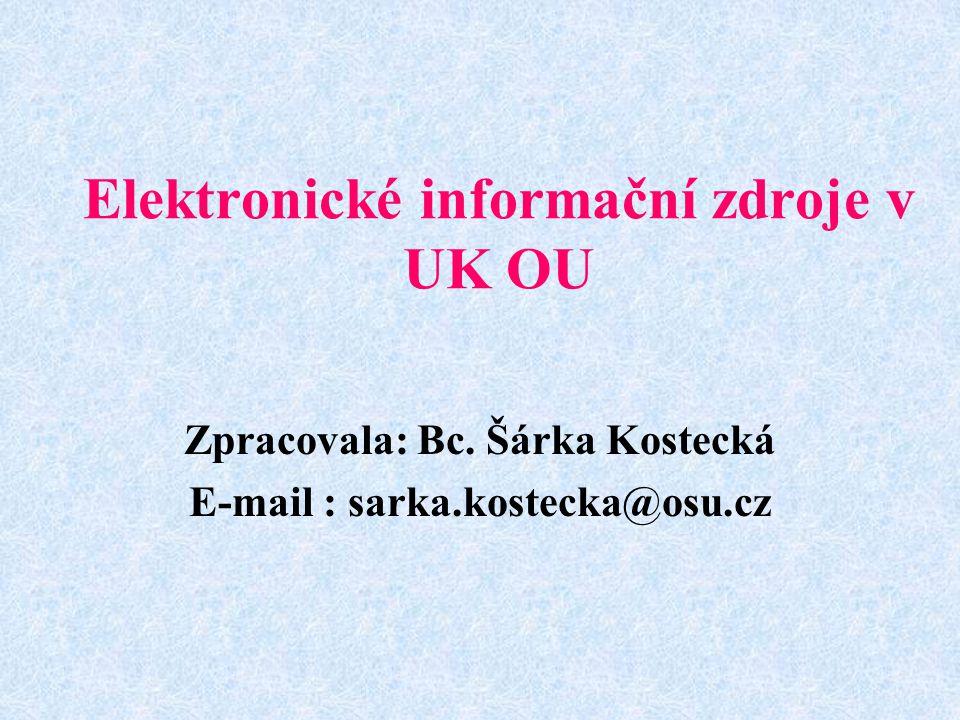 Elektronické informační zdroje v UK OU