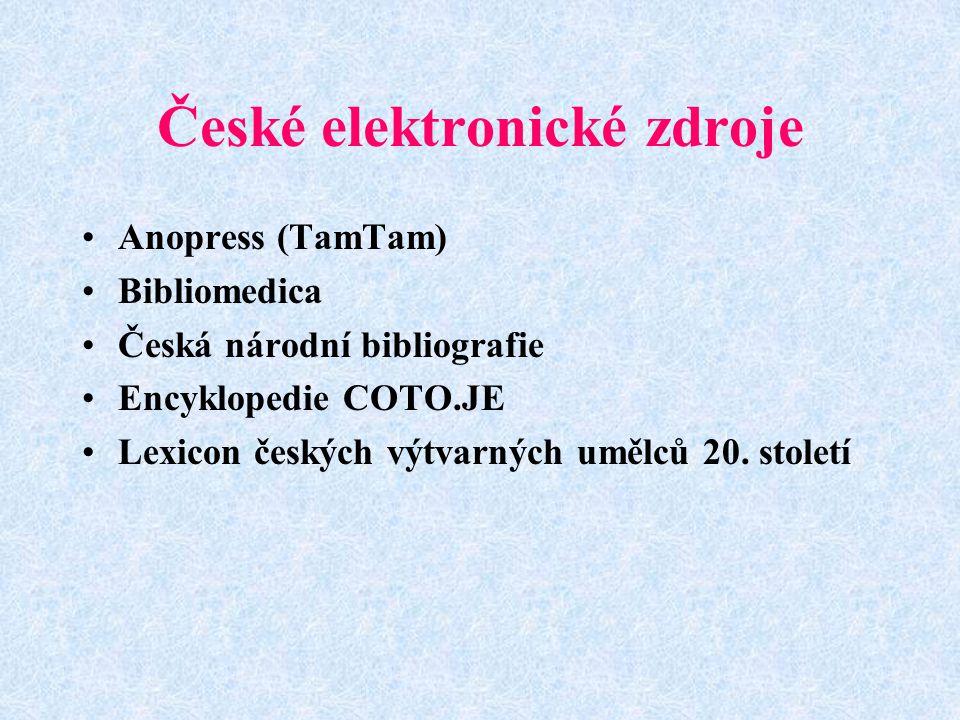 České elektronické zdroje