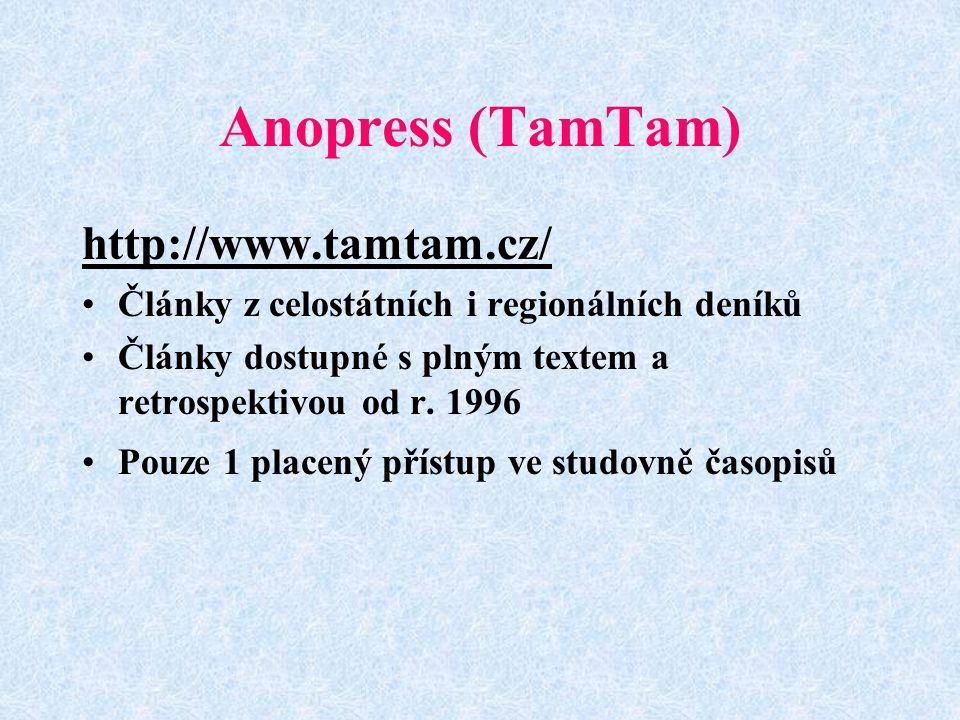 Anopress (TamTam) http://www.tamtam.cz/