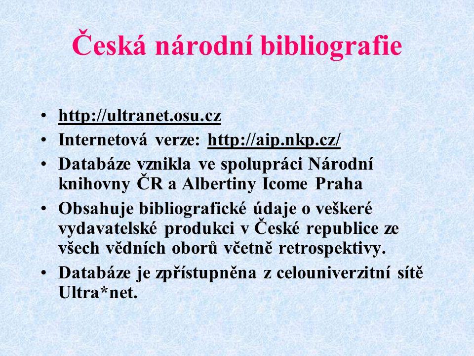 Česká národní bibliografie