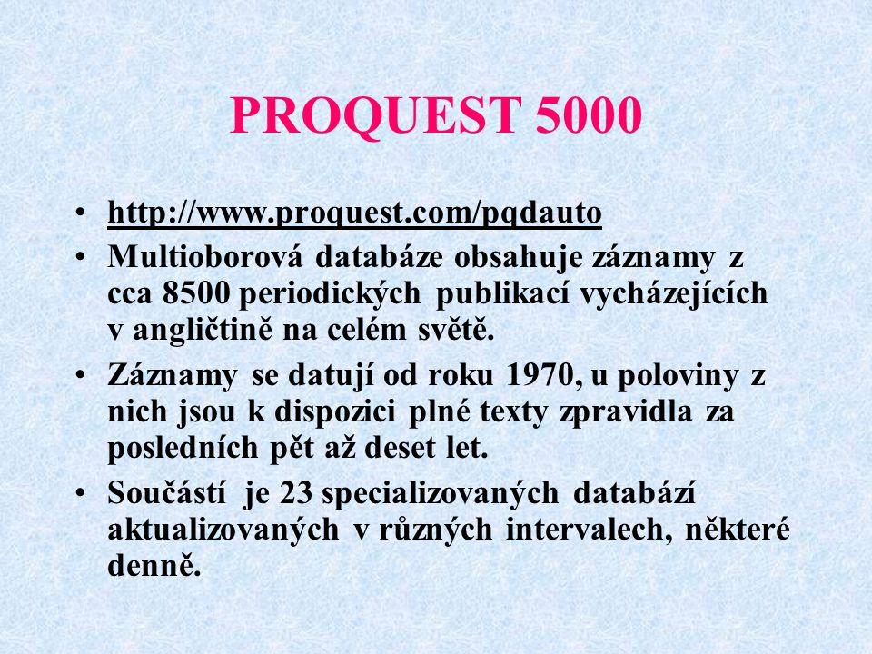 PROQUEST 5000 http://www.proquest.com/pqdauto